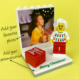 Christmas Photo Display with personalised Minifigure