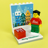 Christmas Display with personalised Minifigure