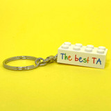 Personalised 'The best TA' Keyring