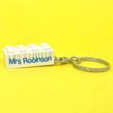 Personalised 'Fab Teacher' Keyring