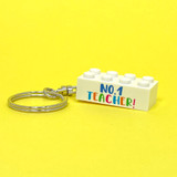 Personalised 'No. 1 Teacher' Keyring