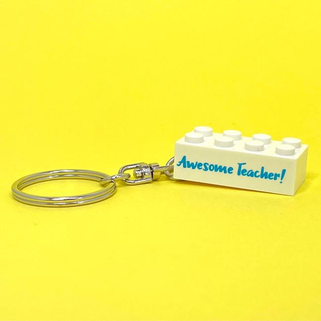 Personalised 'Awesome Teacher!' Keyring