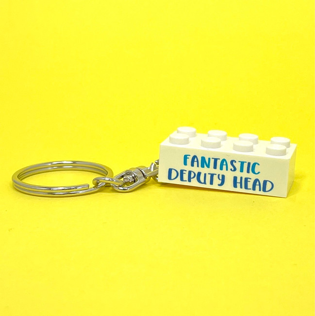 Personalised 'Fantastic Deputy Head' Keyring