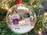 2 Minifigs in a Bauble with a Personalised Brick