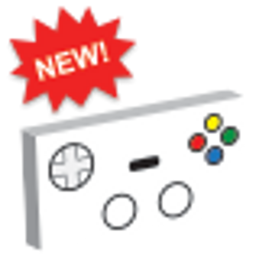 Custom Printed Gaming Controller white
