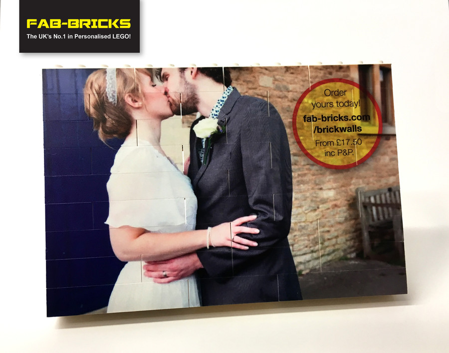 Small Printed Brick Wall - Your image printed on to LEGO bricks!