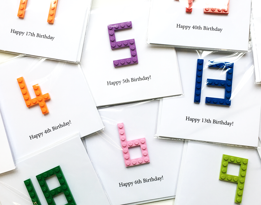 Birthday Card made with LEGO Bricks!