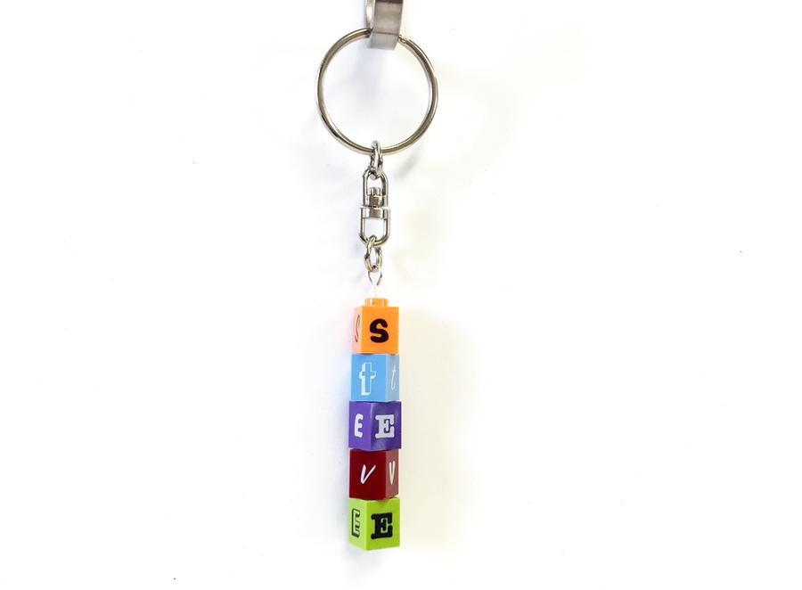 Personalised LEGO 1x1 Brick Keyring! Choose your colours!