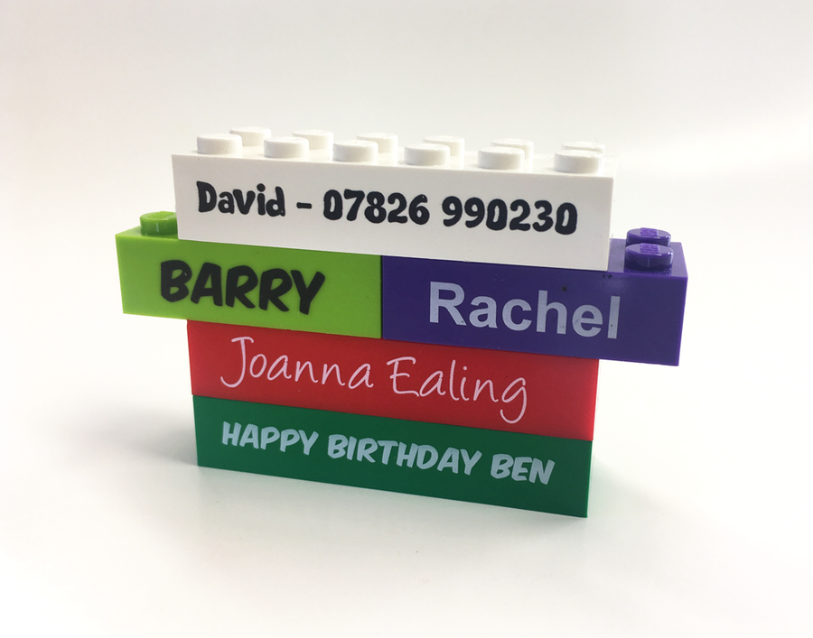 Personalised LEGO Bricks. Choose your size, from  just £2.00! (V2)
