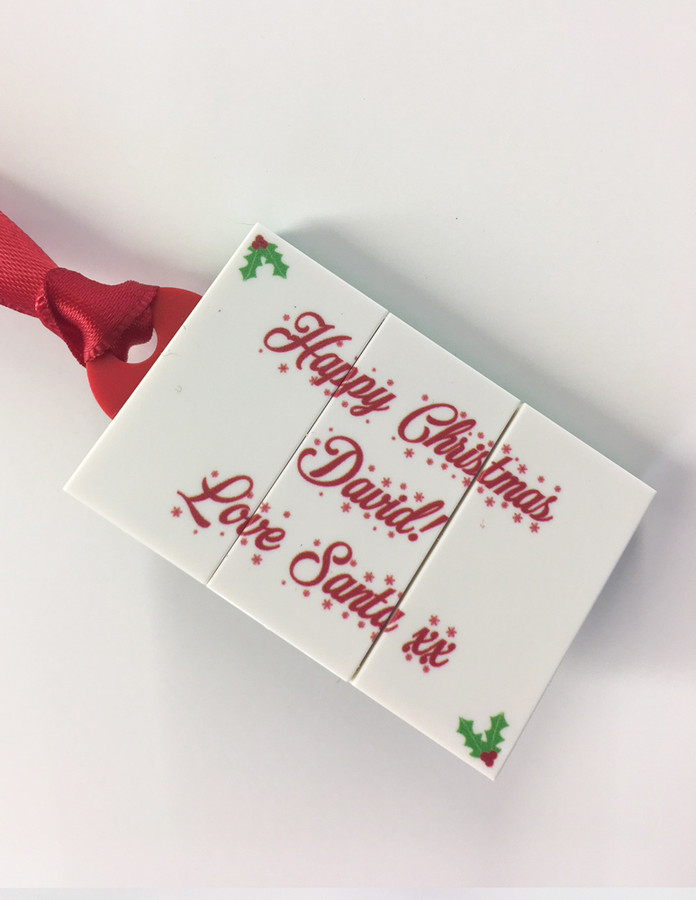 Personalised LEGO stocking tags