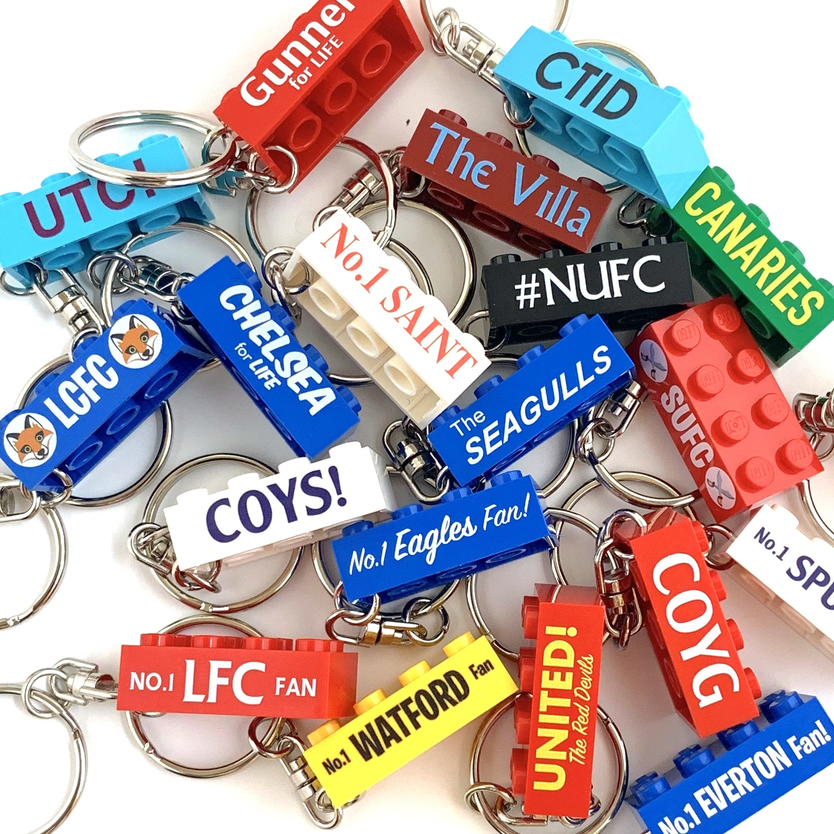 Football Team Keychains