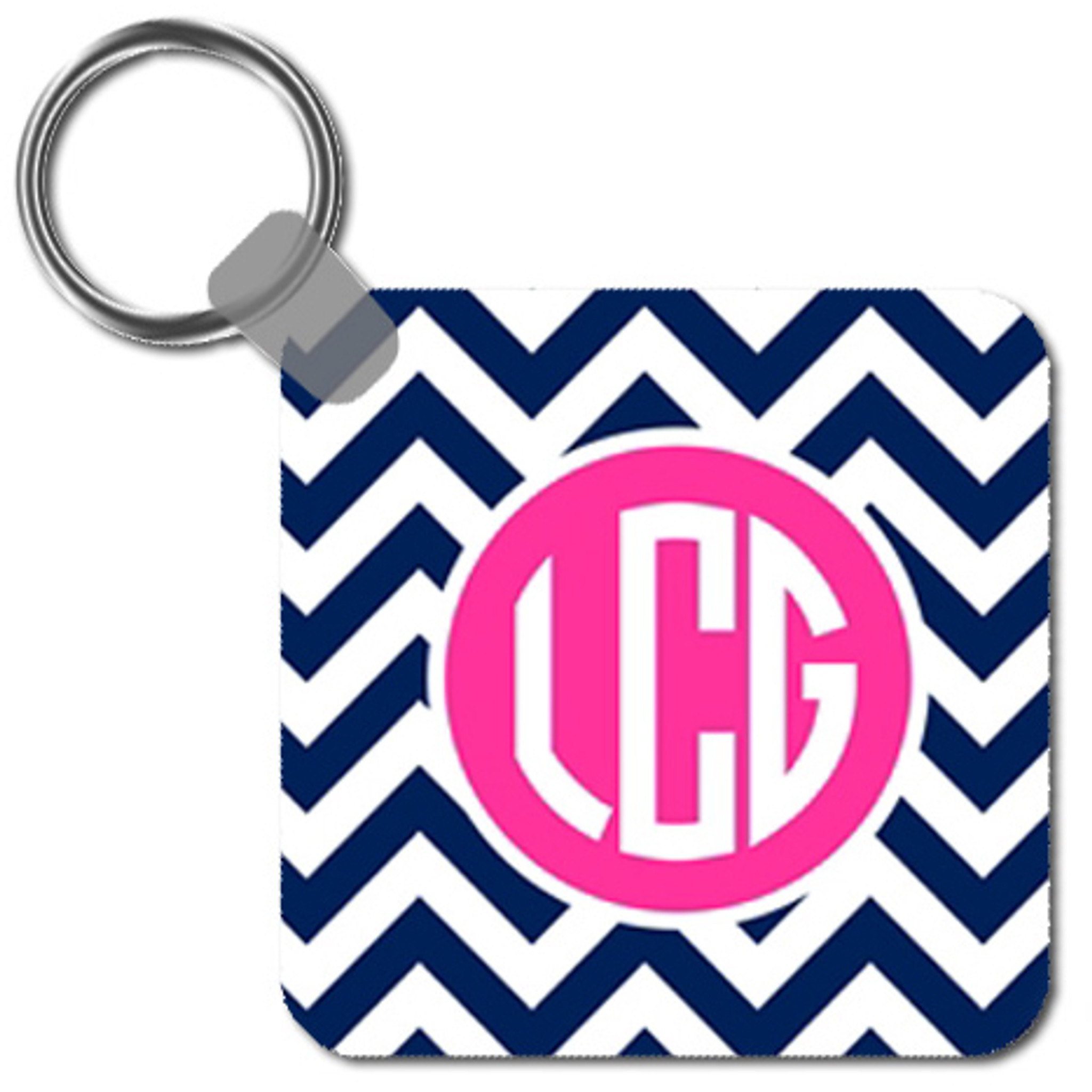 Personalized Keychain ~Key Ring~ Monogrammed