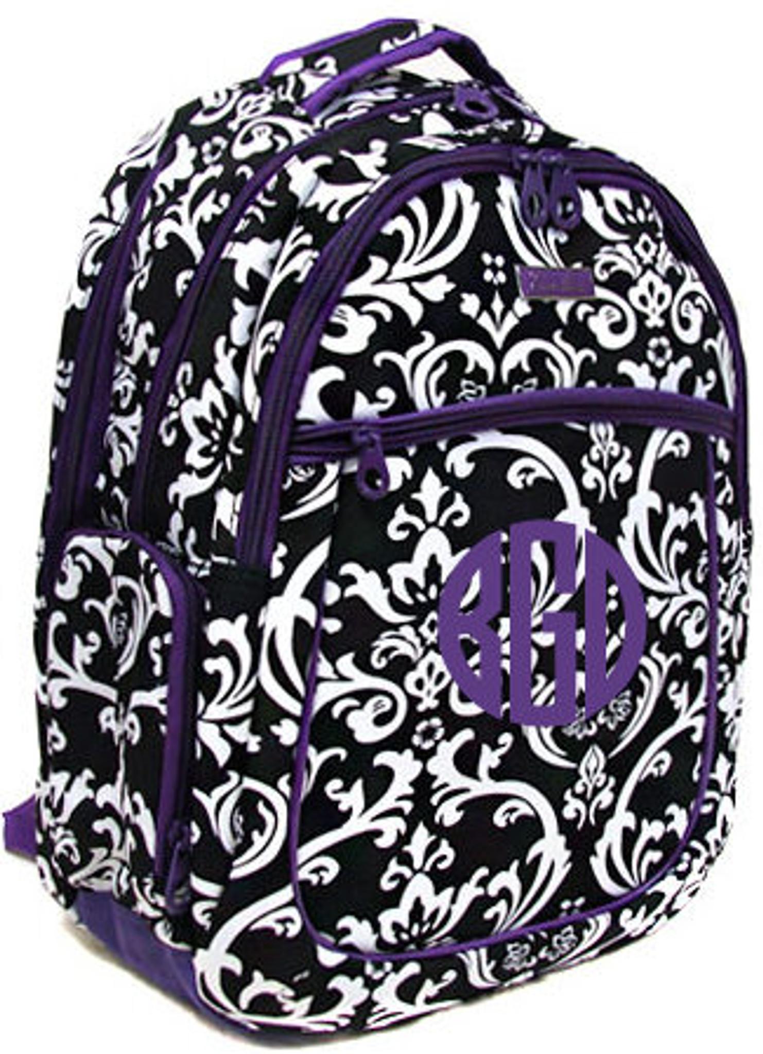 Monogrammed Polka Dot Computer Backpack