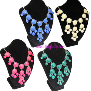 Bubble Bib Fashion Necklace Free Shipping