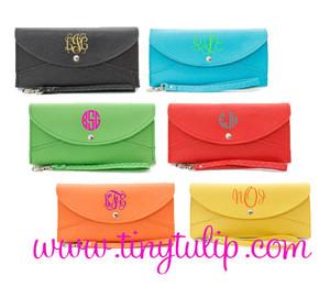 Monogrammed Snap Closure Wristlet Wallet  www.tinytulip.com