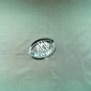 Monogrammed Oval Paperweight Engraved www.tinytulip.com