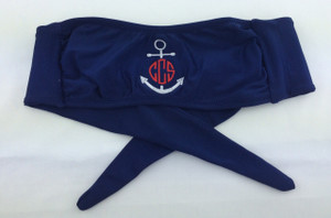 Monogrammed Anchor Bandeau Bathing Suit Top www.tinytulip.com