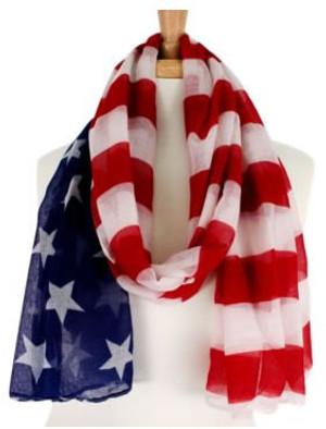 American Flag Scarf www.tinytulip.com