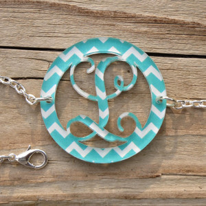 Bordered Chevron Monogram Bracelet www.tinytulip.com