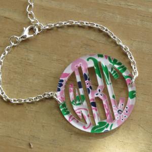 Mary Beth Goodwin Bordered Monogram Bracelet www.tinytulip.com