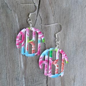Mary Beth Goodwin Monogram Acrylic Earrings www.tinytulip.com