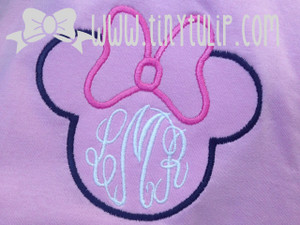 Monogrammed Youth Minnie Mouse Shirt