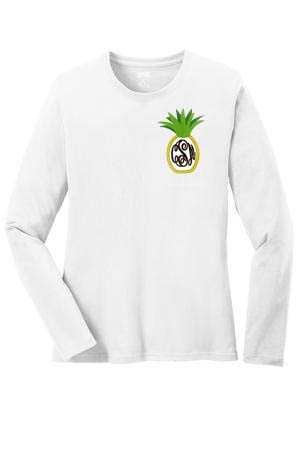 Monogrammed Youth Pineapple Shirt www.tinytulip.com