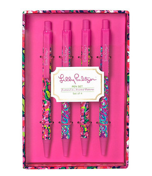 Lilly Pulitzer Set of 4 Pens www.tinytulip.com