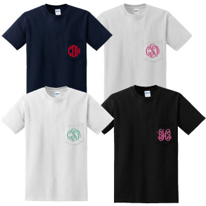 Short Sleeve Monogrammed T Shirt   www.tinytulip.com