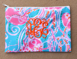 Lilly Pulitzer Monogrammed Pencil Case Jellies Be Jammin