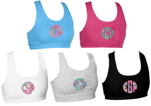 Monogrammed Lilly Pulitzer Sports Bra