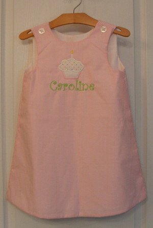 Aline Dress Monogrammed ~ Birthday Dress - tinytulip.com