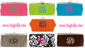 Monogrammed Clutch Wallet ~ Purse