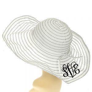 Floppy Dot Sun Hat Monogrammed~ Beach Hat - www.tinytulip.com