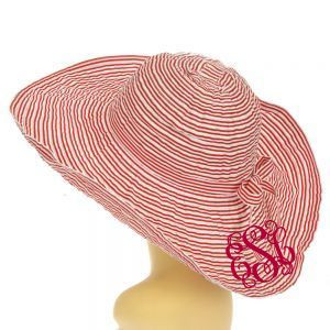 Floppy Stripe Wired Sun Hat Monogrammed