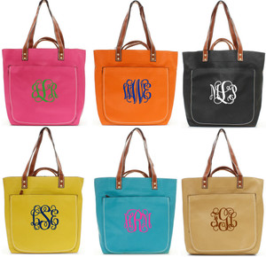 Monogrammed Shelby Shoulder Tote Purse  www.tinytulip.com
