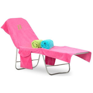 Monogrammed Terry Beach Chair Cover  www.tinytulip.com