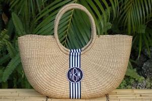 Monogrammed Shoulder Basket Bag  www.tinytulip.com