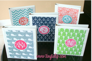 Monogrammed 3 Ring Binder Notebook  www.tinytulip.com