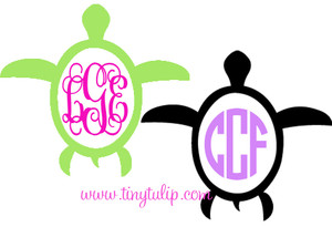 Vinyl Sea Turtle Car Monogram Free Shipping www.tinytulip.com