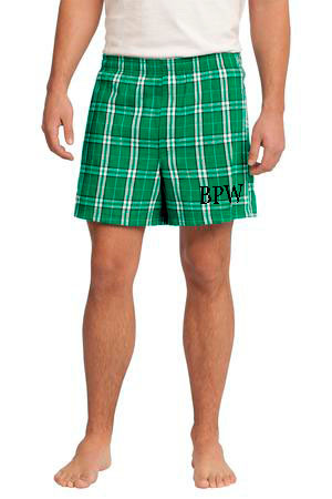 Monogrammed Flannel Plaid Boxers www.tinytulip.com