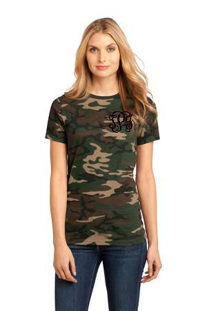 Monogrammed Camo Shirt www.tinytulip.com