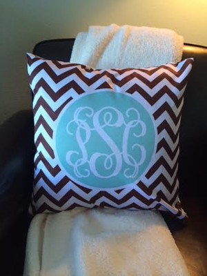 Monogrammed Pattern Customized Decorative Pillow