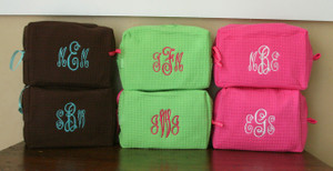 Brown with Turquoise Abigail Monogram Lime Green with Hot Pink Abigail Monogram Hot Pink with White Abigail Monogram