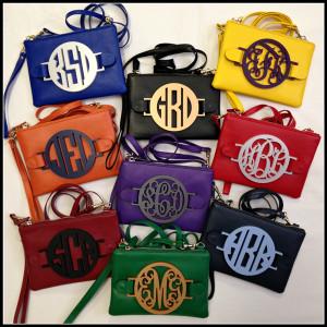 Monogrammed Izzy Bag www.tinytulip.com