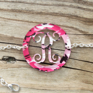 Bordered Acrylic Pattern Monogram Bracelet www.tinytulip.com
