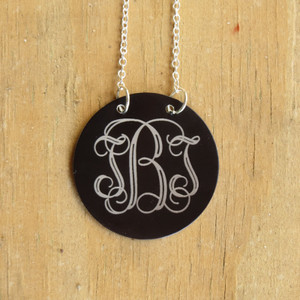 Metal Monogram Floating Necklace www.tinytulip.com