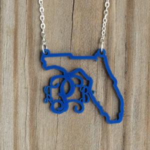 My State Monogram Necklace www.tinytulip.com