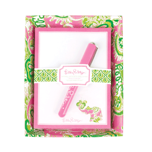 Lilly Pulitzer Chin Chin Catchall with Pad www.tinytulip.com