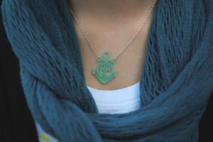 Anchor Monogram Necklace www.tinytulip.com